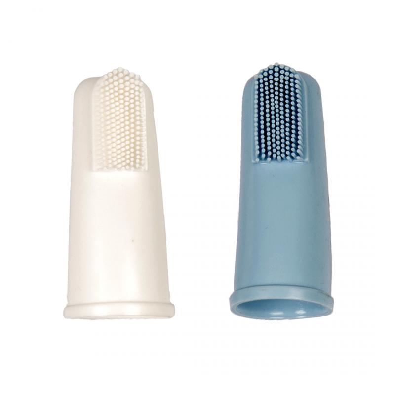 Дуво+ Зубная щетка-напальчник Чистка/Массаж, 2 шт./уп., Duvo+