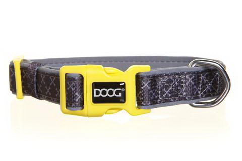 Дуг Ошейник Odie для собак, нейлон/неопрен, в ассортименте, серо-желтый, Doog