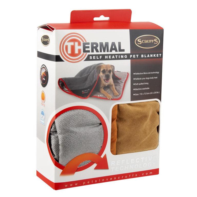 Скрафс Одеяло согревающее Thermal для кошек и собак, в ассортименте, 110*72,5 см, Scruffs