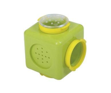 Вольтрега Куб для туннеля 9*9*9 см, зеленый, 2 кольца и 2 заглушки в комплекте,  Voltrega