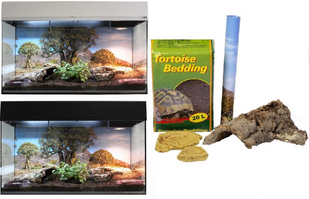 Лаки Рептайл Террариум Стартовый комплект для Сухопутных Черепах, 80*40*52 см, в ассортименте, Lucky Reptile