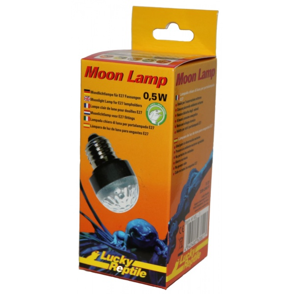 Лаки Рептайл Лампа ночного освещения Moon Lamp 0.5 Вт светодиодная синяя, цоколь E27, Lucky Reptile