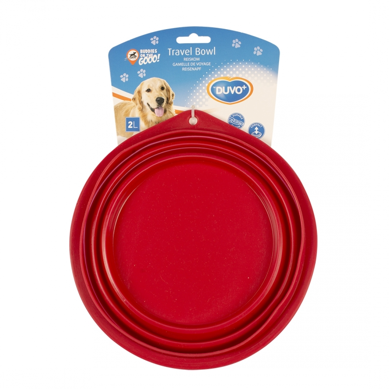 Дуво+ Миска для животных складная силиконовая, красная, в ассортименте, DUVO+