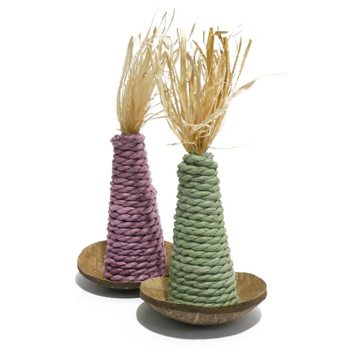 Роузвуд Игрушка для грызунов Воблер 17*8 см, кукуруза/кокос, в ассортименте, Rosewood