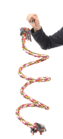 Хеппи Берд Веревочная игрушка-спираль для крупных птиц, в ассортименте, Happy Bird