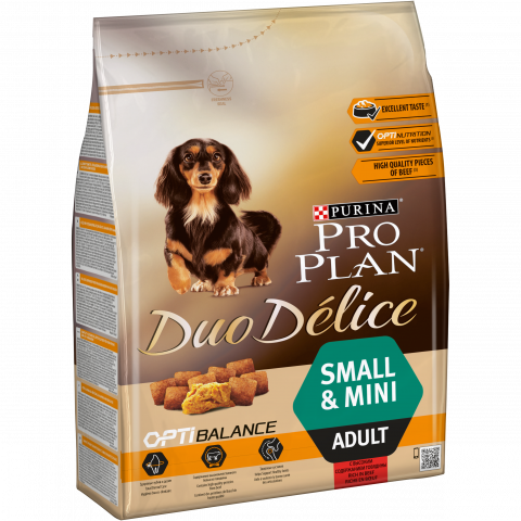 Корм Про План Duo Delice Adult Small для собак мелких и карликовых пород Говядина/Рис, в ассортименте, Pro Plan