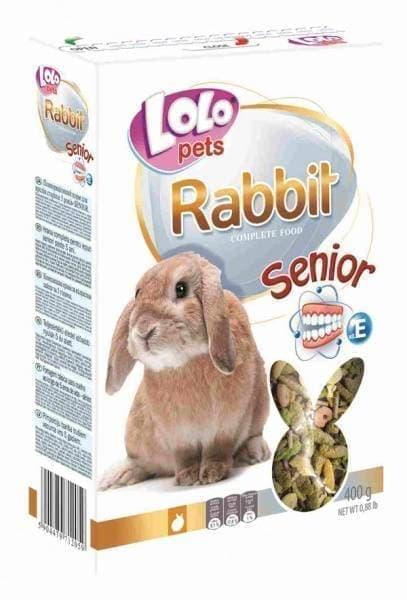 ЛолоПетс Корм для кроликов старше 5 лет SENIOR LO-71205 400 г, LoloPets