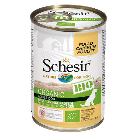 Шезир Консервы Bio для собак всех пород, в ассортименте, 6*400 г, Schesir