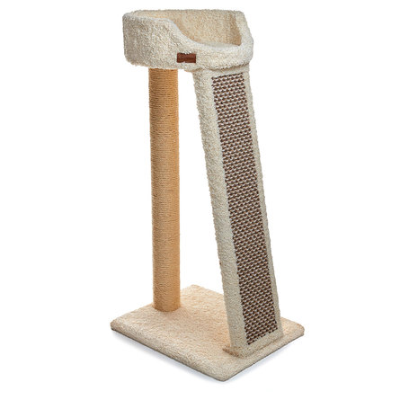 Сайвал Комплекс Malmo-2 для кошек 56*43*113 см с трапом-когтеточкой, в ассортименте, ковролин/сизаль, Saival
