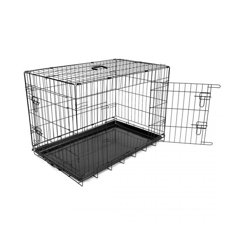 Дуво+ Клетка металлическая Pet Kennel двухдверная, в ассортименте, DUVO+