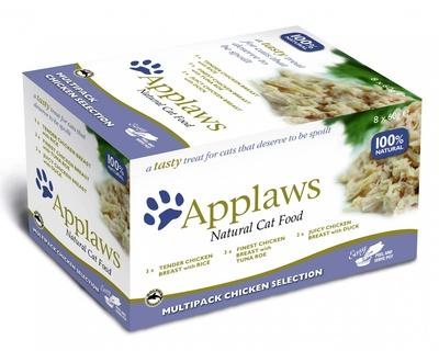 Эплауз Набор консервов для кошек Куриное ассорти Cat Chicken Selection MP 8*60 г Applaws