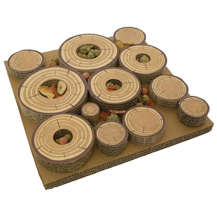 Роузвуд Игрушка для грызунов картонная Лабиринт для лакомств 30*30 см, Rosewood