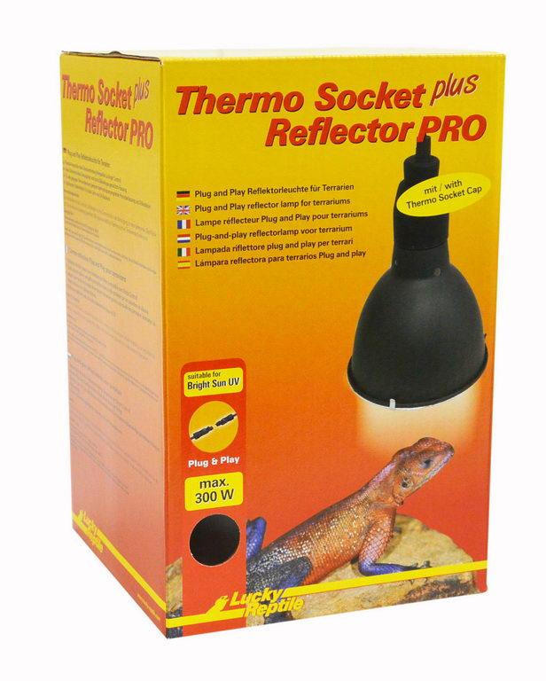 Лаки Рептайл Светильник навесной с защитной сеткой и разъёмом, в ассортименте, Lucky Reptile