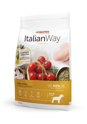Италиан Вэй Корм сухой безглютеновый для собак средних пород Medium Сhicken/Rice, Курица/Рис, в ассортименте, Italian Way