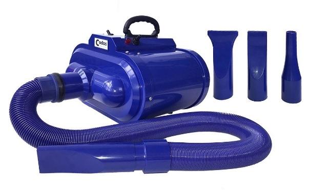 Кодос Фен-компрессор для животных двухмоторный 3200 Вт, 33*38*22 см, синий, Codos