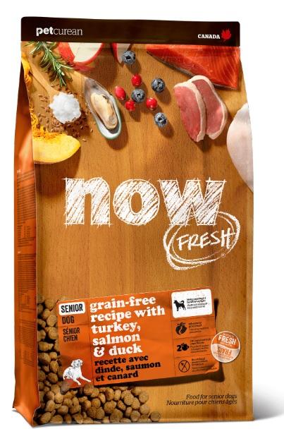 Корм Нау беззерновой для пожилых собак, а также склонных к полноте Fresh Senior Recipe Grain Free Индейка/Утка/Овощи, в ассортименте, Now