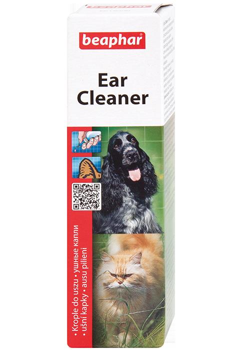 Беафар Лосьон для ушей для кошек, собак, кроликов, хорьков Ear-Cleaner, 50 мл, Beaphar