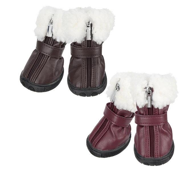 Паппи Ботинки Pathfinder для собак бордовые, в ассортименте, Puppia