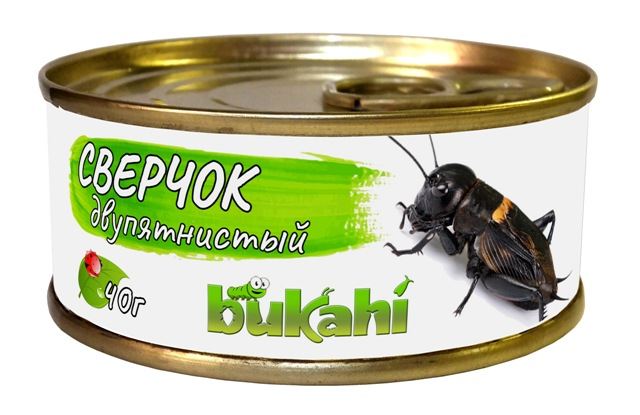Букахи Консервы Сверчок двупятнистый для насекомоядных, 40 г, Bukahi