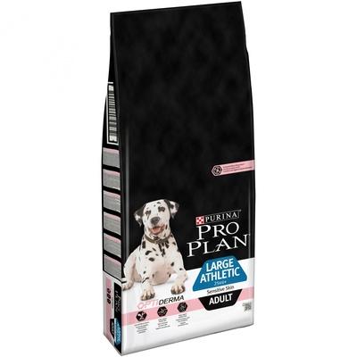 Про План Корм Adult Large Athletic Sensitive Skin с комплексом OPTIDERMA для собак крупных пород с атлетическим телосложением и чувствительной кожей, Лосось, 14 кг, Pro Plan
