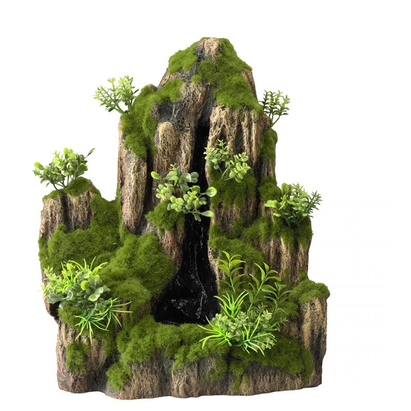 АкваДелла Декорация для аквариума Водопад песочный Moss Rock, 25,5*18*31 см, AquaDella