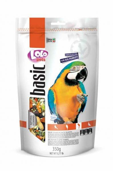 ЛолоПетс Корм для крупных попугаев LO-70274 полнорационный 350 г, LoloPets