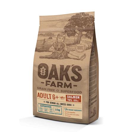 Оакс Фарм Корм беззерновой GF Salmon Adult 6+ All Breeds  для собак всех пород старше 6 лет, Лосось, в ассортименте, Oaks Farm