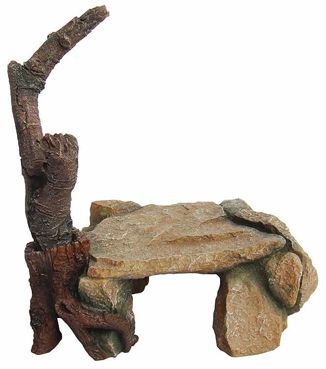 Лаки Рептайл Декорация для террариумов Cave with branch, 25*17*27 см, Lucky Reptile