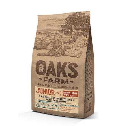 Оакс Фарм Корм беззерновой GF Salmon with Krill Junior Small and Mini Breeds для собак малых и мини пород возрастом 3-12 месяцев, Лосось/Криль, в ассортименте, Oaks Farm