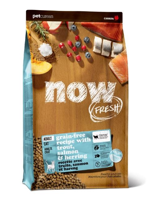 Корм Нау беззерновой для кошек с чувствительным пищеварением Grain Free Fish Adult Recipe CF 30/19 Форель/Лосось, в ассортименте, Now