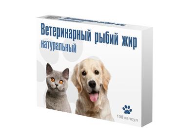 Вака Рыбий жир в капсулах для собак и кошек, в ассортименте, Биосфера