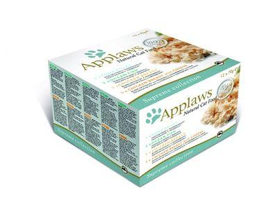 Эплауз Набор консервов Коллекция вкусов для кошек Supreme Mixed Selection, 12*70 г, Applaws