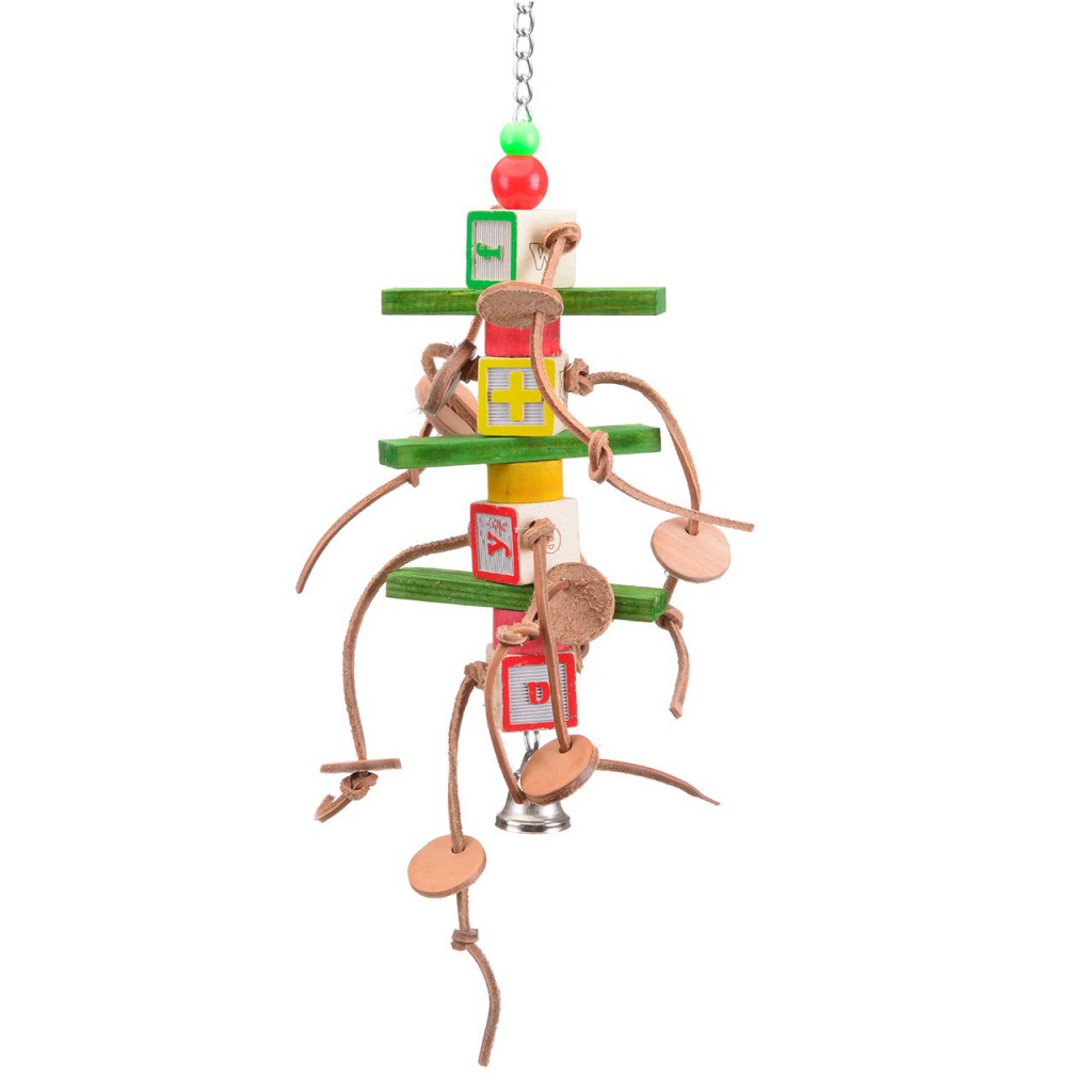 Хеппи Берд Игрушка для средних и крупных птиц Джолли Долли, 10*7*38 см, Happy Bird