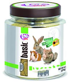 ЛолоПетс Бисквиты с отрубями LO-71081 для всех видов грызунов 270 г, Lolo Pets