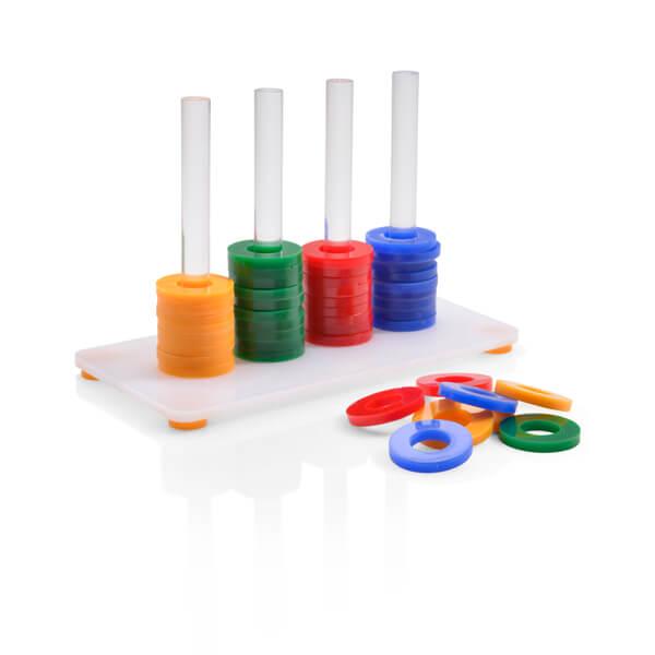 Хеппи Берд Развивающая игрушка для птиц Собери колечки, в ассортименте, акрил, Happy Bird