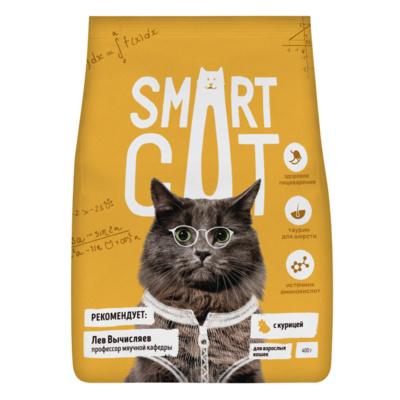Смарт Кэт Корм для кошек, Курица, в ассортименте, Smart Cat