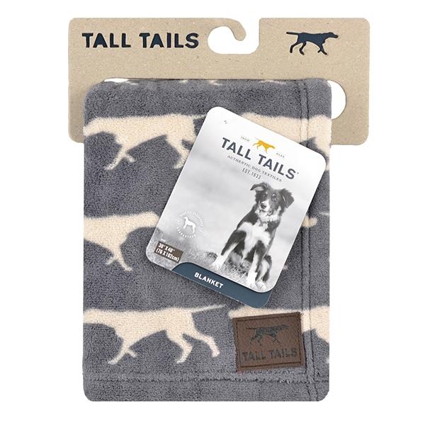 Роузвуд Плед-лежак Tall Tails серое с собаками, 76*102 см, Rosewood