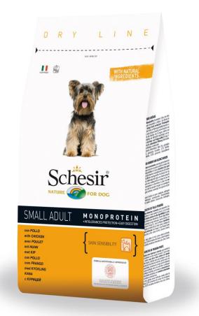 Шезир Корм Small Adult Monoprotein Dry Line для собак мелких пород Курица, в ассортименте, Schesir
