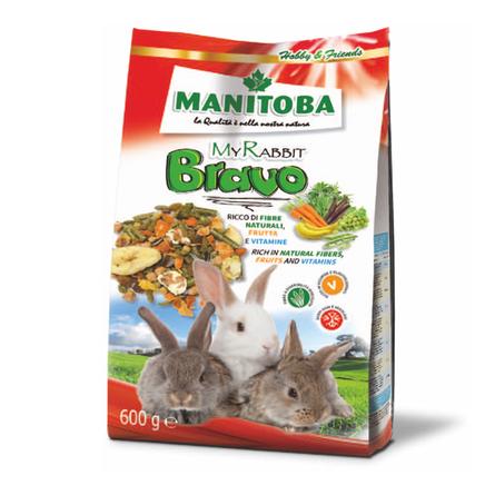 Манитоба Корм для карликовых кроликов My Rabbit Bravo с овощами и фруктами 600 г, Manitoba
