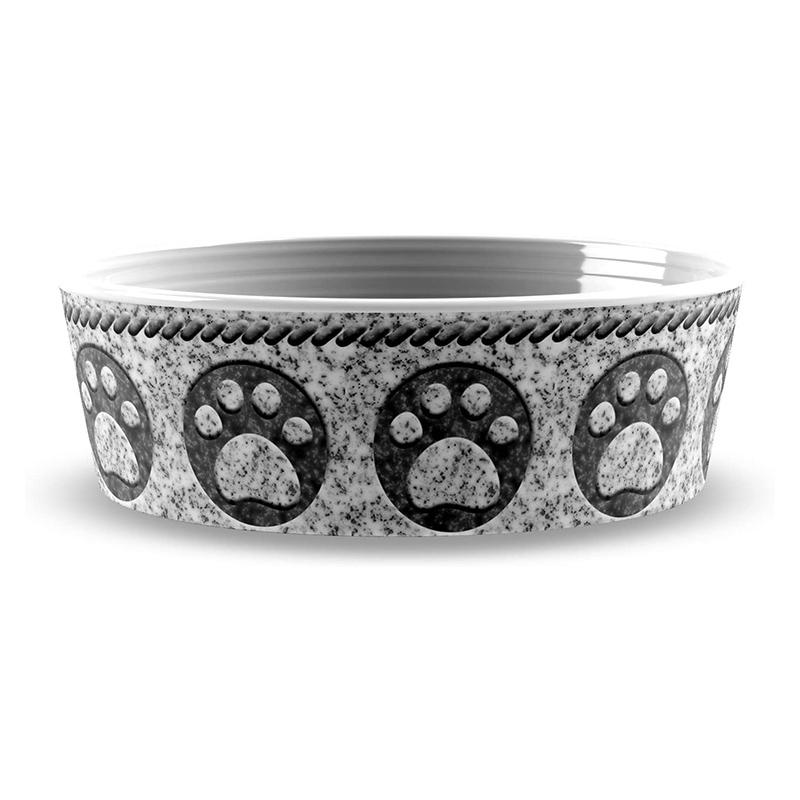 Тархонг Миска для кошек и собак Granite Paw серая, в ассортименте, меламин, TarHong