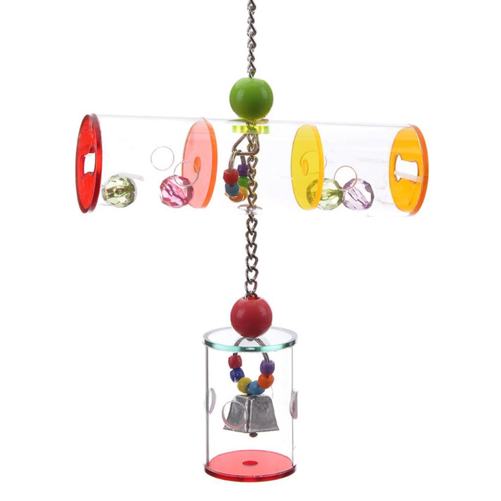 Хеппи Берд Игрушка фуражилка для птиц Бочонок и туннель, 18*5,5 см, Happy Bird