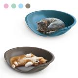 Георпласт Лежанка Beddy Plain для собак и кошек, 57*48*16 см, пластик, в ассортименте, GeorPlast