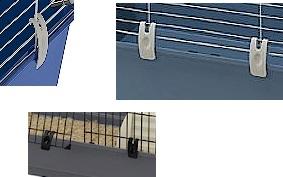 Ферпласт Клипсы-защелки для клетки Casita и Cavia всех размеров, Rabbit 100 Double, 4 шт./уп., Ferplast