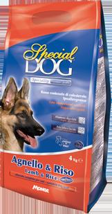Корм Special Dog корм для собак с чувствительной кожей и пищеварением Ягненок/Рис, в ассортименте, Monge