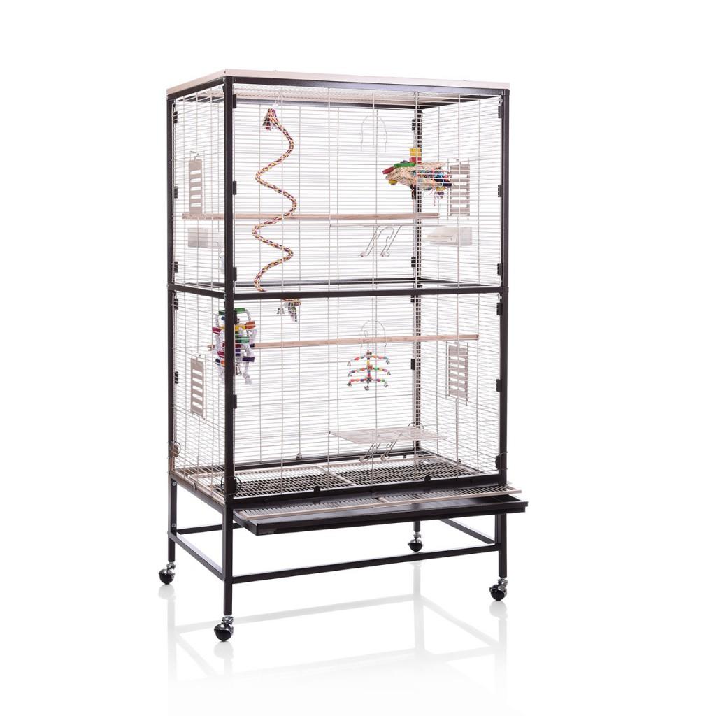 Монтана Клетка Paradiso 90 для птиц, грызунов, хорьков, 91*60*132/160 см, в ассортименте, Montana