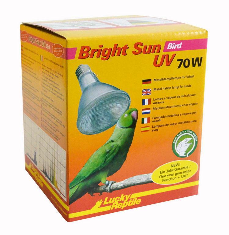 Лаки Рептайл Лампа УФ для птиц Bright Sun Bird, 70 Вт, Lucky Reptile