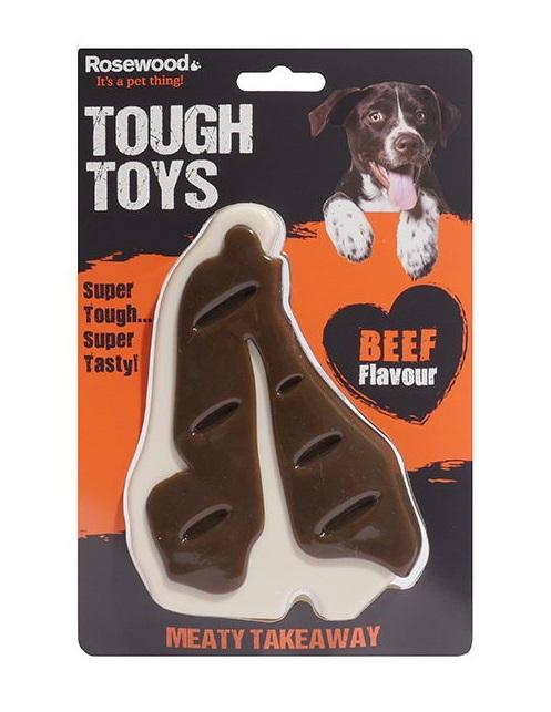 Роузвуд Игрушка Tough Toys Beef Steak с ароматом говядины, в ассортименте, нейлон, Rosewood