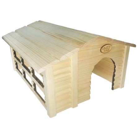 Грин Фарм Дом для грызунов с сенницей 43*31*24 см, съемная крыша, дерево, Green Farm