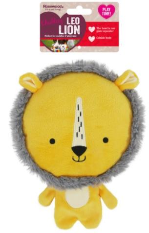Роузвуд Игрушка для собак Шуршащая с большой пищалкой Львёнок Лео жёлтый 23*17,5*5, полиэстер, Rosewood