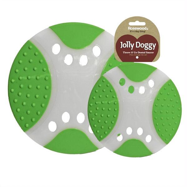Роузвуд Диск для фрисби Летающая тарелка 23 см бело-зеленая, Rosewood